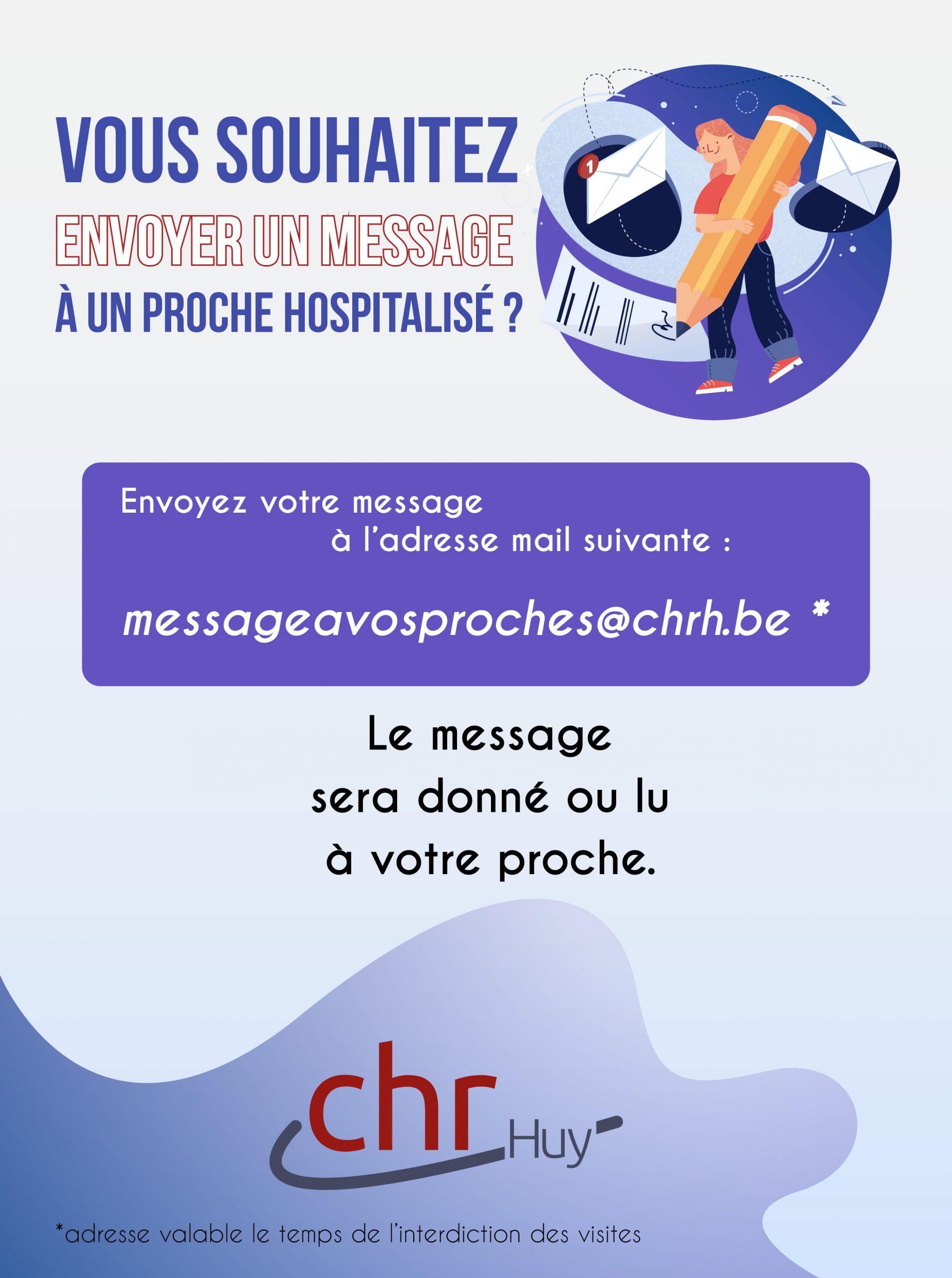 Un message pour un patient du CHR de Huy ?